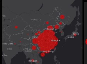 Coronavirus: aggiornati con la mappa online in real time